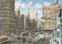 Detroit Looking North On Woodward Fine-Art Print