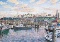 Fisherman's Wharf Sunset Fine-Art Print