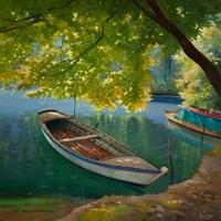 Barca sul Fiume Fine-Art Print