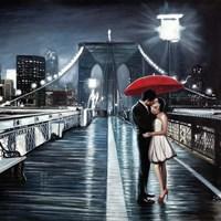 Kissing on Brooklyn Bridge Fine-Art Print