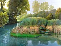 Sul fiume Fine-Art Print