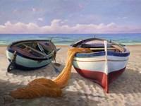 Barche sulla Spiaggia Fine-Art Print