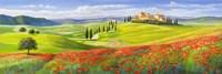 Verso il Borgo in Toscana Fine-Art Print