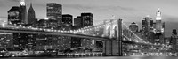 Brooklyn Bridge at Night (Detail) Fine-Art Print