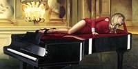Piano Lady Fine-Art Print