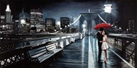 Kissing on Brooklyn Bridge II Fine-Art Print