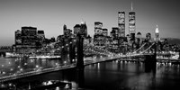 Brooklyn Bridge, NYC BW Pano Fine-Art Print