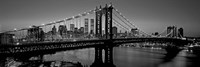 Manhattan Bridge and Skyline BW Fine-Art Print
