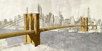 Gilded Brooklyn Bridge Fine-Art Print