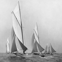 Sailboats Sailing Downwind, 1920 (Detail) Fine-Art Print