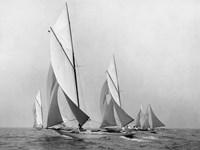 Saliboats Sailing Downwind, ca. 1900-1920 Fine-Art Print