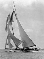 The Schooner Half Moon at Sail, 1910s Fine-Art Print