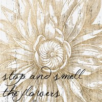 Metallic Floral Quote I Fine-Art Print