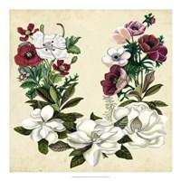 Magnolia & Poppy Wreath II Fine-Art Print