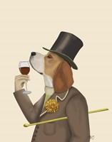 Beagle Wine Snob Fine-Art Print
