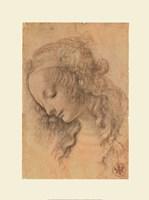 Testa di Donna di Profilo Fine-Art Print