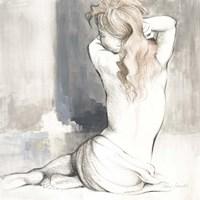 Sketched Waking Woman I Fine-Art Print