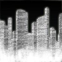 Black and White City II Fine-Art Print