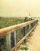 Beach Rails I Fine-Art Print