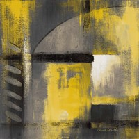 Grey and Yellow Soiree I Fine-Art Print