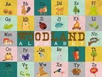 Woodland Alphabet (horizontal) Fine-Art Print