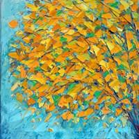 Autumn On Teal Fine-Art Print