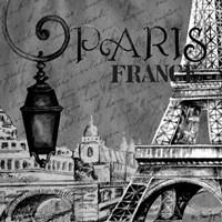 Parisian Wall Black I Fine-Art Print
