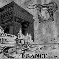 Parisian Wall Black II Fine-Art Print