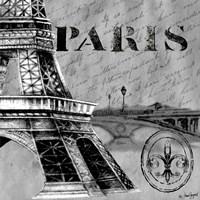 Parisian Wall Black III Fine-Art Print