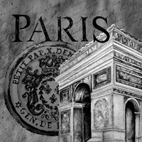 Parisian Wall Black IV Fine-Art Print
