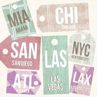 City Tags Square I Fine-Art Print