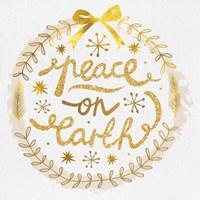 White Christmas Wreath II Fine-Art Print