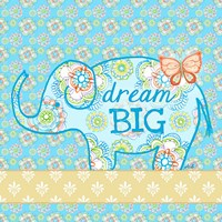 Blue Elephant I - Dream Big Fine-Art Print