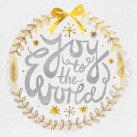 White Christmas Wreath V Fine-Art Print
