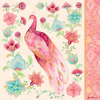Pink Medallion Peacock II Fine-Art Print