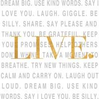 Gold Love and Life II Fine-Art Print