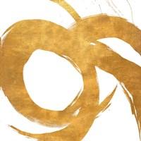 Gold Circular Strokes II Fine-Art Print