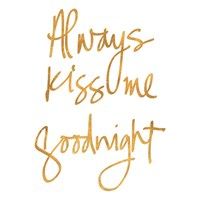 Always Kiss Me Goodnight (White) Fine-Art Print