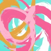 Pink Circular Strokes II Fine-Art Print