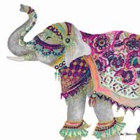 Boho Elephant Square Fine-Art Print