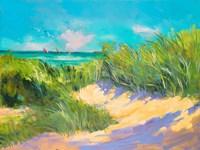 Blue Grass Breeze I Fine-Art Print