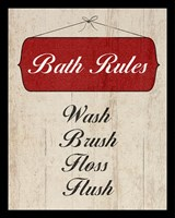 Bath Rules I Fine-Art Print