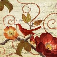 Avian on Red I Fine-Art Print