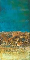 Rustic Frieze on Teal I Fine-Art Print