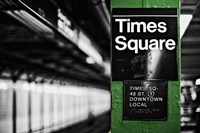 Times Square Subway Green Fine-Art Print