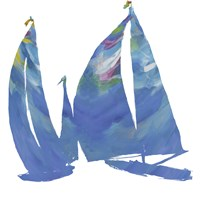 Set Sail on White I Fine-Art Print