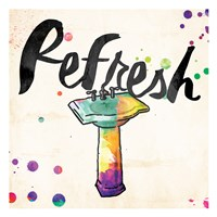Refresh Colorful Sink Fine-Art Print
