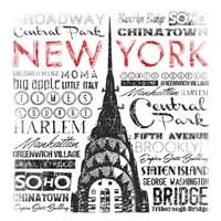 New York Words Fine-Art Print