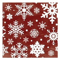 Red Snow Flakes Fine-Art Print