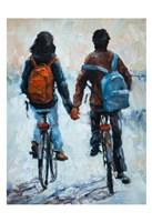 ShenLi's Romance On Bikes Fine-Art Print